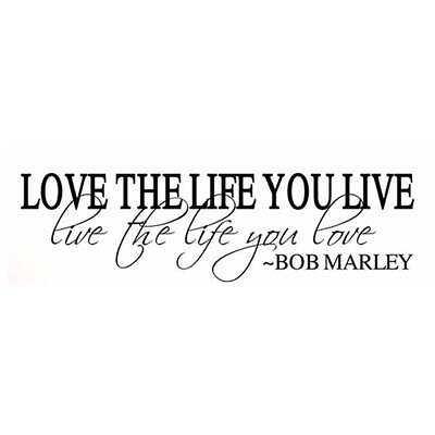 BOB MARLEY Quote Removable Wall Sticker Art Vinyl Decal Mural Home Bedroom Decor