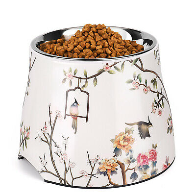 Elevated Dog Cat Bowl Feeder Up to 31 Fl Oz - Raised Pet Dish Food Water Holder