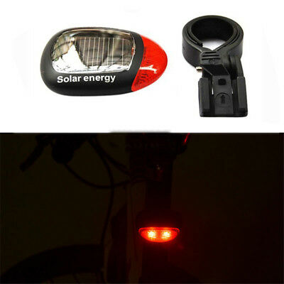 Solar Energy Rechargeable LED Bicycle Lamp Bike Tail Light Flash Warning Light G