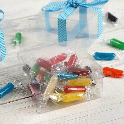 """CLEAR Plastic FAVOR BOXES 4""""x4""""x2"""" Wedding Party Decorations Wholesale Supply"""