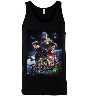 40083721adefd Marvel Avengers Infinity War T Shirt Iron Man Hulk Captain America Tee Tank  Top