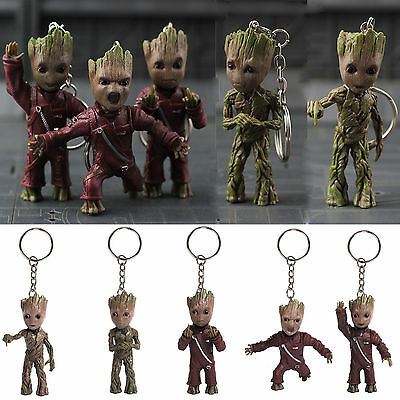 Guardians of the Galaxy Vol.2 Baby Groot Middle Finger KeyChain PVC Figure FXXK