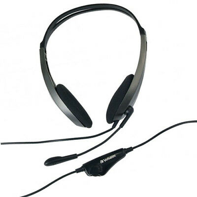 Verbatim Multimedia Stereo Headset with Microphone and Volume Control 41646