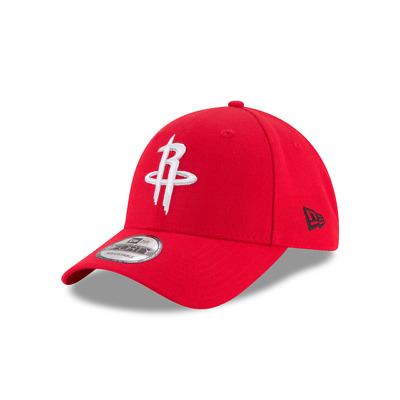 New Era 9FORTY NBA Houston Rockets Red The League Hat Curved Peak Strapback Cap