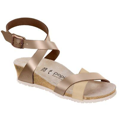 REDUCED Papillio by Birkenstock LOLA Leather Frosted Metallic Rose BNIB 1008935