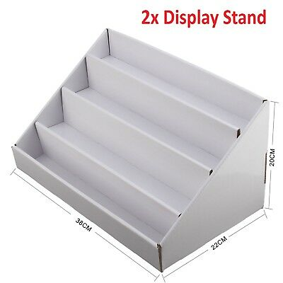 2x cardboard 4 tier white collapsible greeting card display stand 2x cardboard 4 tier white collapsible greeting card display stand m4hsunfo