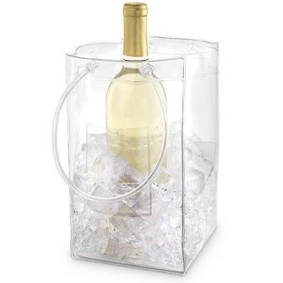 (Set of 1) - The Chiller: Wine Chiller and Ice Bucket, Ice Bag Carrier with