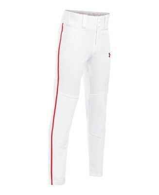 (Youth Medium, White (102)) - Under Armour Boys' Heater Piped Baseball Pants