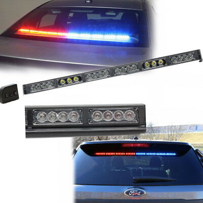 "19"" 22LED LED Red Blue Light TRAFFIC police Warning emergency Strobe Light Bar"