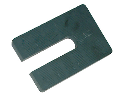 "Plastic horseshoe shims 1/4"" x 3"" x 4""- Black- 250 pcs"