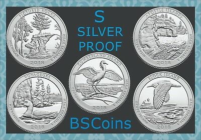 2018 S ATB SILVER PROOF Quarters in US Mint pkg - In Stock - Ship TODAY!!