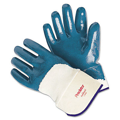 Memphis Predator Nitrile Gloves Blue/White Large 12 Pairs 9760