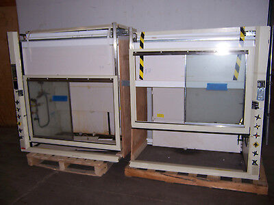9331 Hamilton Safeaire 10' Fume Hood W/ Epoxy Resin Tops & 3 Way Glass Fronts
