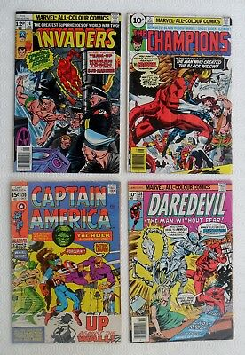 Selection of Marvel comics x 4 - 1970s - G/VG condition