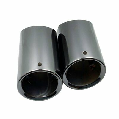 Dual Chrome Exhaust Pipe Mullfer Tip Stainless Steel For BMW X5 1954-2016 Black