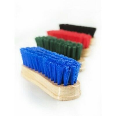 (Black) - Horze Face Brush w/Wooden Back - Black - Grooming Kit. Free Delivery