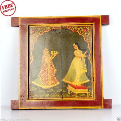 Wooden Handcrafted Scenery Beautiful Hand Painted Picture Wall Window 9578