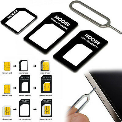 Universal 3 In 1 Micro Nano And Standard Sim Card Adapter Converter For Mobiles