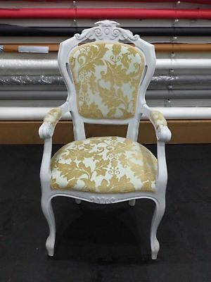 Antique Vintage Grey Hand Painted Georgian Style Dining Single Chair 4