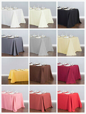 LinenTablecloth 90 x 132 in. Rectangular Poly Tablecloths, 33 Colors!