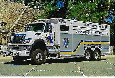 New Jersey State Police Usar Truck 6 4X6 Color Photo ~ 2014 International/kme