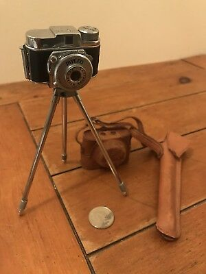 Vintage Mycro III A Japanese Spy Camera With Leather Case And Tripod