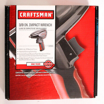 """NEW  Craftsman 19981 Air Impact Wrench 3/8"""" Drive"""