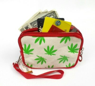Canada Flag Pot Leaf Marijuana Coin Purse