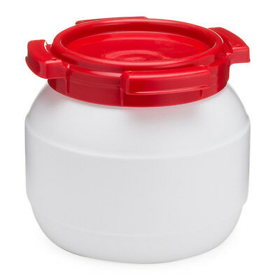 Curtec 1 Gal-3.6L Wide Neck HDPE Food Grade-Water Tight-Tamper Evident Drum