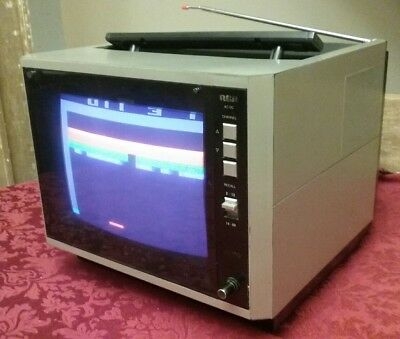 """Vintage RCA XL100 Solid State Color CRT TV 1986 Retro silver Television 9"""""""
