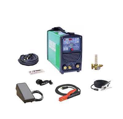 Poweri-TIG200T DIGITAL 200AMP DC TIG PULSE WELDER 2AMP LOW START EVERLAST 9 MEM
