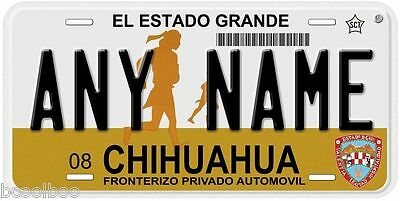 Chihuahua Mexico Any Name Number Novelty Auto Car License Plate C03