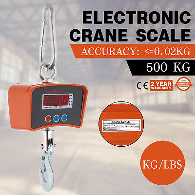 500Kg/0.5T Electronic Crane Scales Digital Industrial Medical Hanging Weight Led