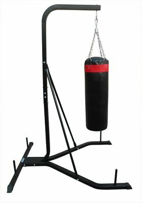 Free Standing Punching Bag Filled Kick Boxing Exercise Training Heavy Duty Steel