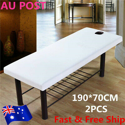 2x Beauty Massage Bed Table Cover 190*70cm Couches Salon Spa Towelling Sheets AU