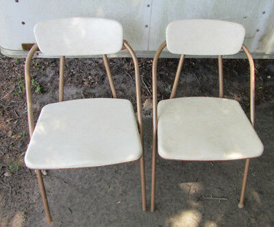 2 Mid Century Stylaire Folding Retro Chairs, Retro Folding Chairs, MCM, Atomic
