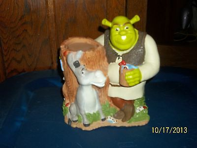 2004 Dreamworks Shrek & Donkey Bathroom Decor Dixie Cup Dispenser Holder