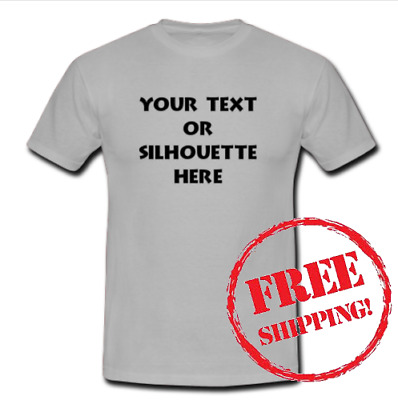 Custom Personalized T-shirt Your Text or Silhouette Printed Tee (Adults & Kids)