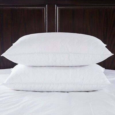 (King) - Puredown Quilted White Goose Feather and Down Pillow, King Size,