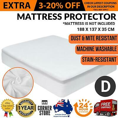 Luxury Bamboo Mattress Protector Waterproof Bed Matress Cover Double Sized NEW