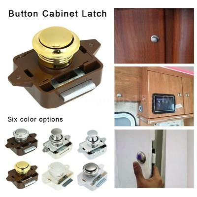 Large Push Button Cabinet Latch for Rv/Motor Home Cupboard Caravan Lock for I2F5