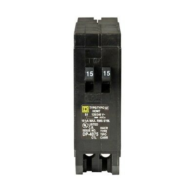 Amp Tandem Circuit Breaker Compatible With Electric Homeline Panels Single Pole