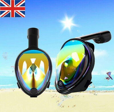 180°Full Face Snorkel Mask-With Anti-Fog Anti-Leak Snorkeling For Adults/Kid