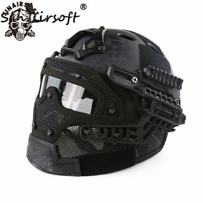 G4 System ABS Tactical Fast Helmet With Full Face Mask Goggle Airsoft War Game