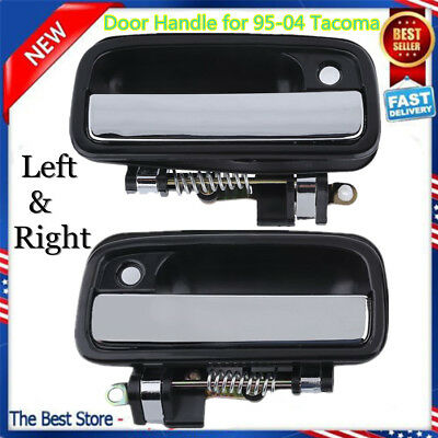 Pair Outer Chrome Exterior Front Left Right Door handle for 95-04 Toyota TacomaE