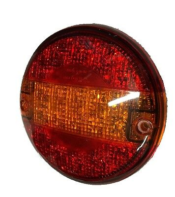 247 Lighting 1 Led Hamburger Round Tail Stop Lamps For Lorries Trailers Ca9008