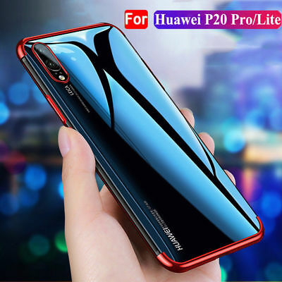 For Huawei P20 Pro/Lite Stylish Hybrid Shockproof Plating Case Silicone Cover