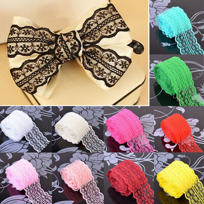 10m 1PC Wedding Dress Craft Lace Fabric Ribbon Polyester Yarn Solid Color Sewing