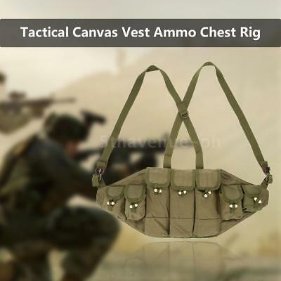 Outdoor Leinwand Weste Ammo Chest Rig Magazin Carrier Combat Weste Armee J7H7