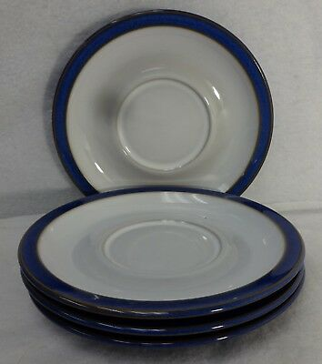 DENBY china IMPERIAL BLUE pattern Saucer - Set of Four (4) Saucers